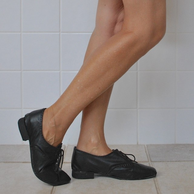 black oxfords
