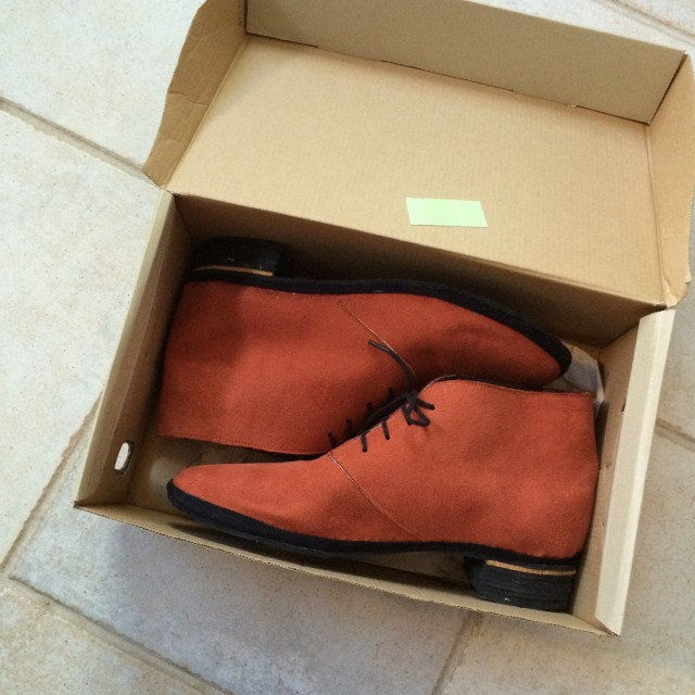 paprika boots in box