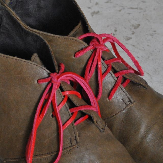 olive boots pink laces